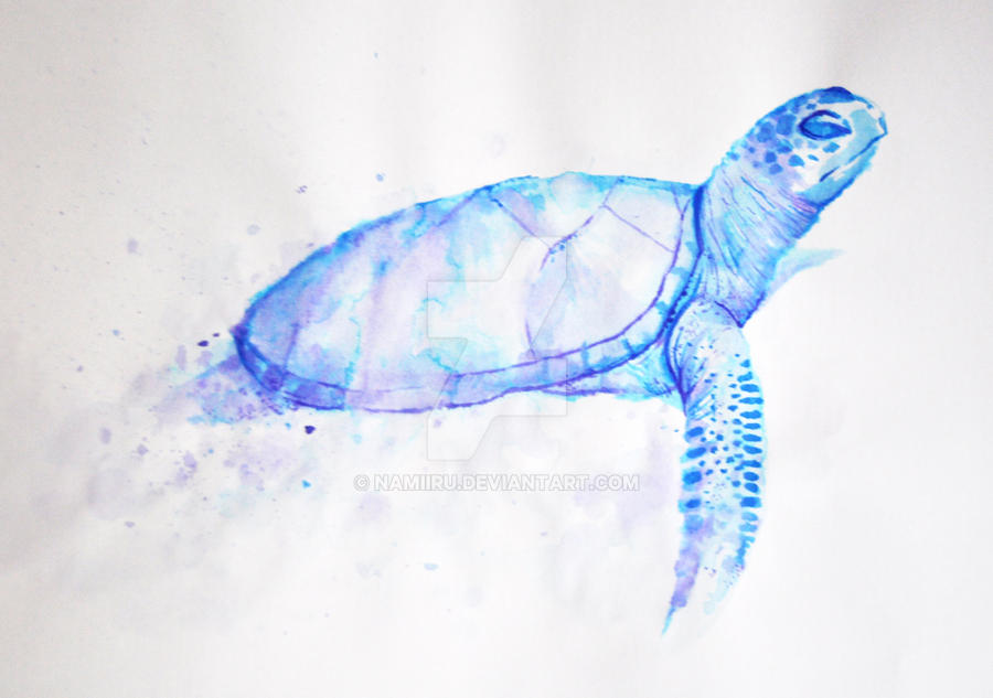 Blue Ink Turtle by Namiiru