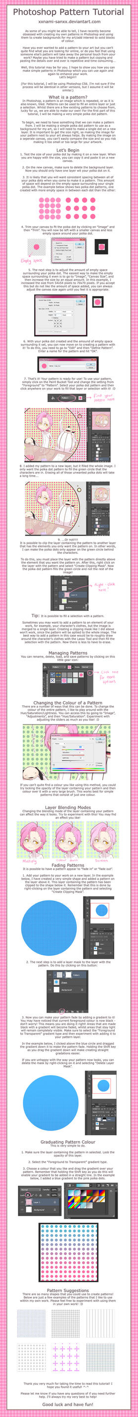 Nami's Photoshop Pattern Tutorial by Namiiru