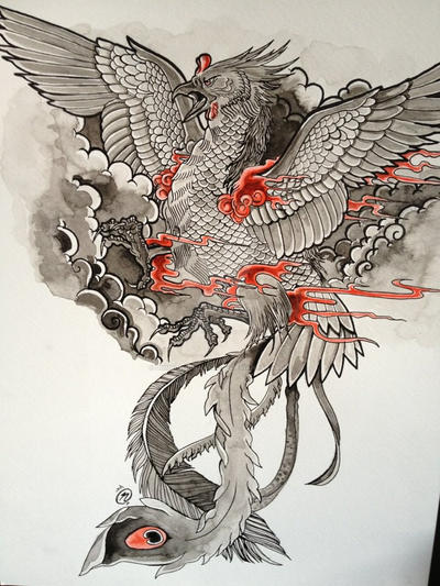 phoenix tattoo design by unmei wo hayamete on deviantart. Black Bedroom Furniture Sets. Home Design Ideas