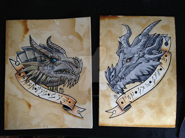 Paarthurnax And Alduin By Unmei Wo Hayamete On Deviantart