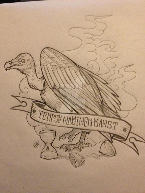 vulture tattoo by unmei wo hayamete on deviantart. Black Bedroom Furniture Sets. Home Design Ideas