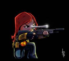 Black Widow - Marvel girls by ilustrajean