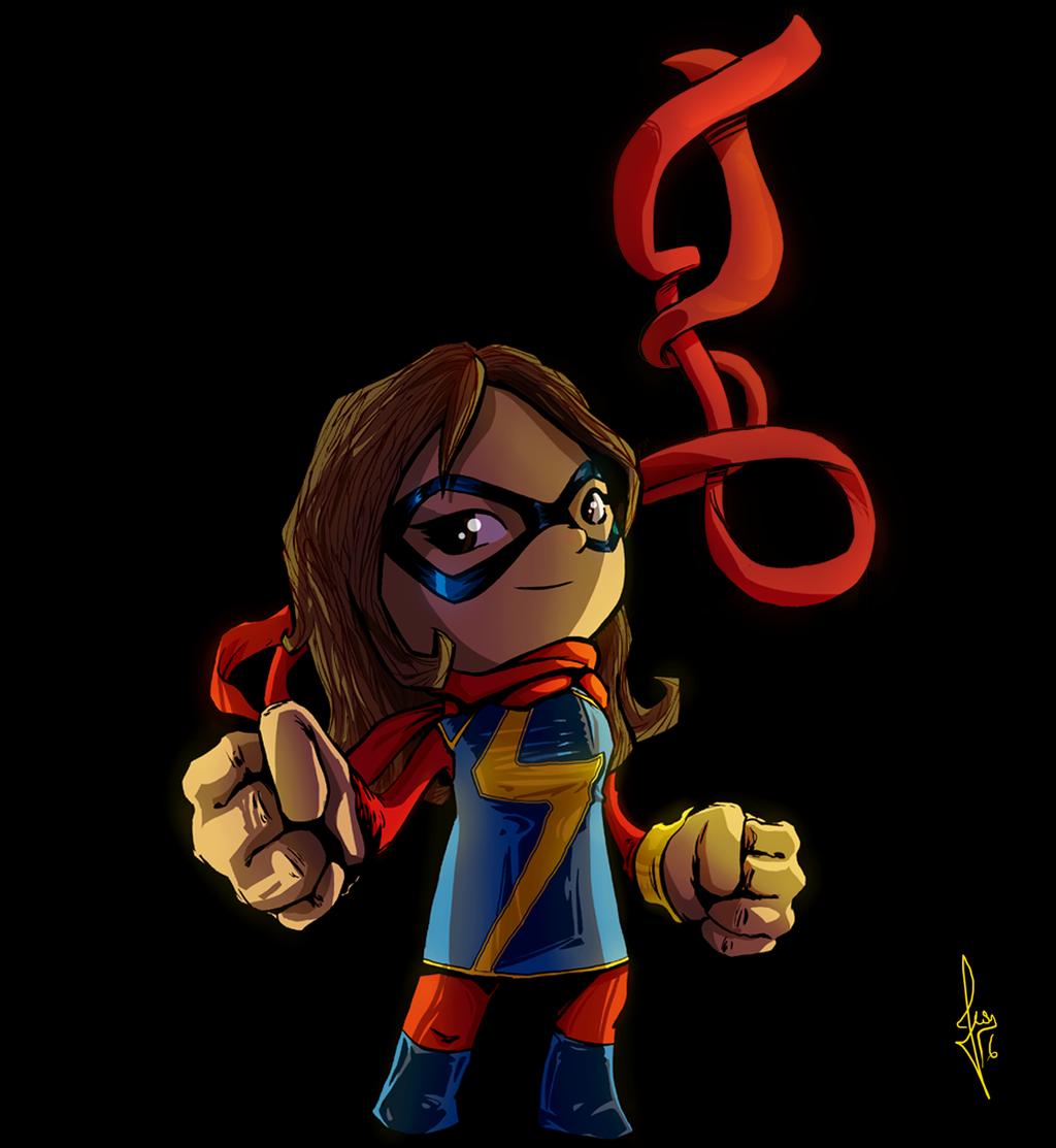 Ms Marvel - Marvel girls by ilustrajean