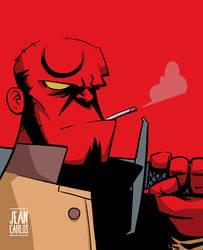 Hellboy Red by ilustrajean