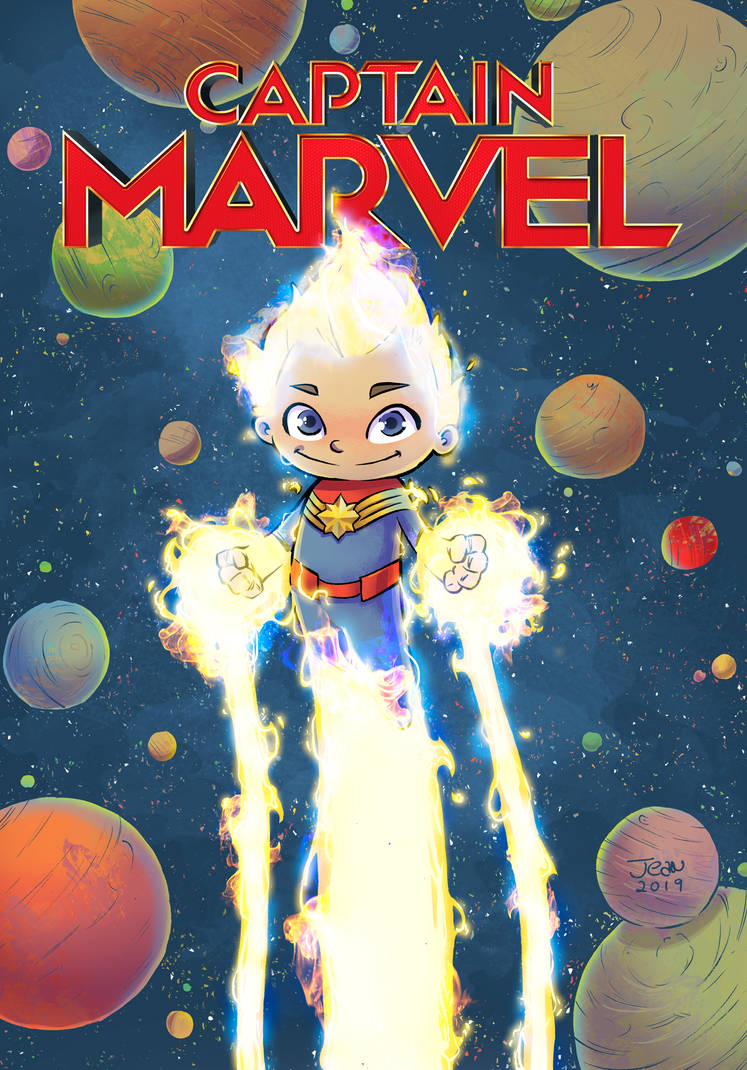 Captain Marvel Fanart Cover by ilustrajean