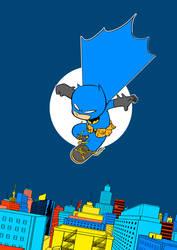 Batman Cartoon colors by ilustrajean