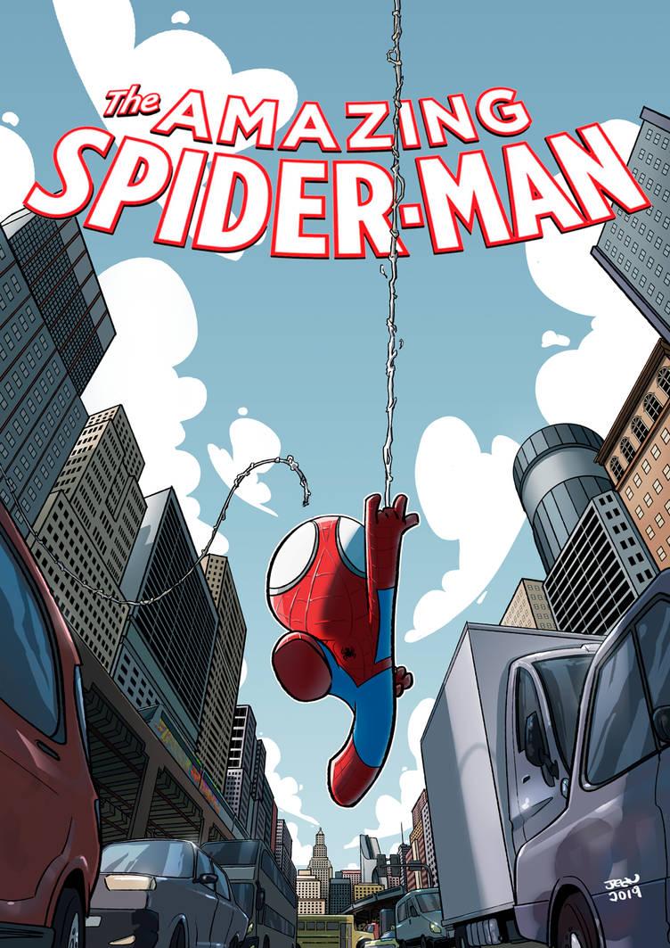 Spiderman Fanart cover by ilustrajean
