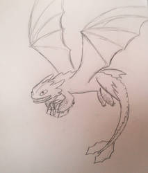Birthday Toothless WIP by steave1425