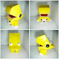 The Yellow Dino Papercraft!