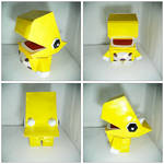 The Yellow Dino Papercraft!