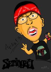 Seringai-Arian 13 Caricature