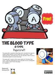 Blood Type Comic Papercraft