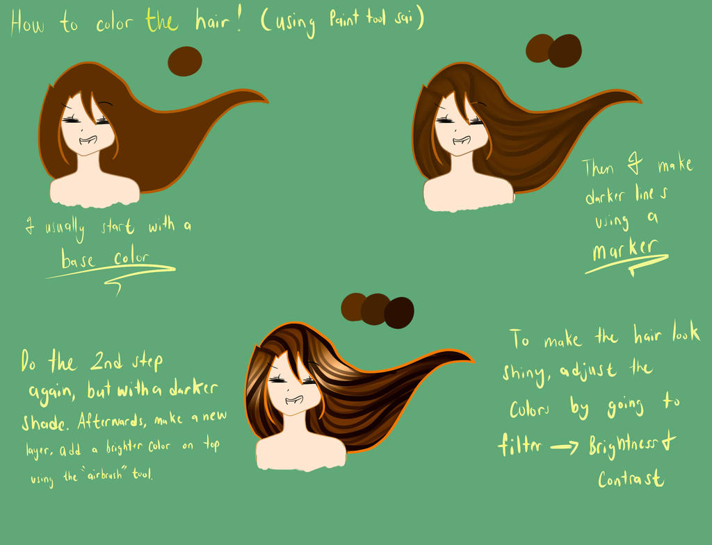 How To Color The Hair By Cookieteller On Deviantart