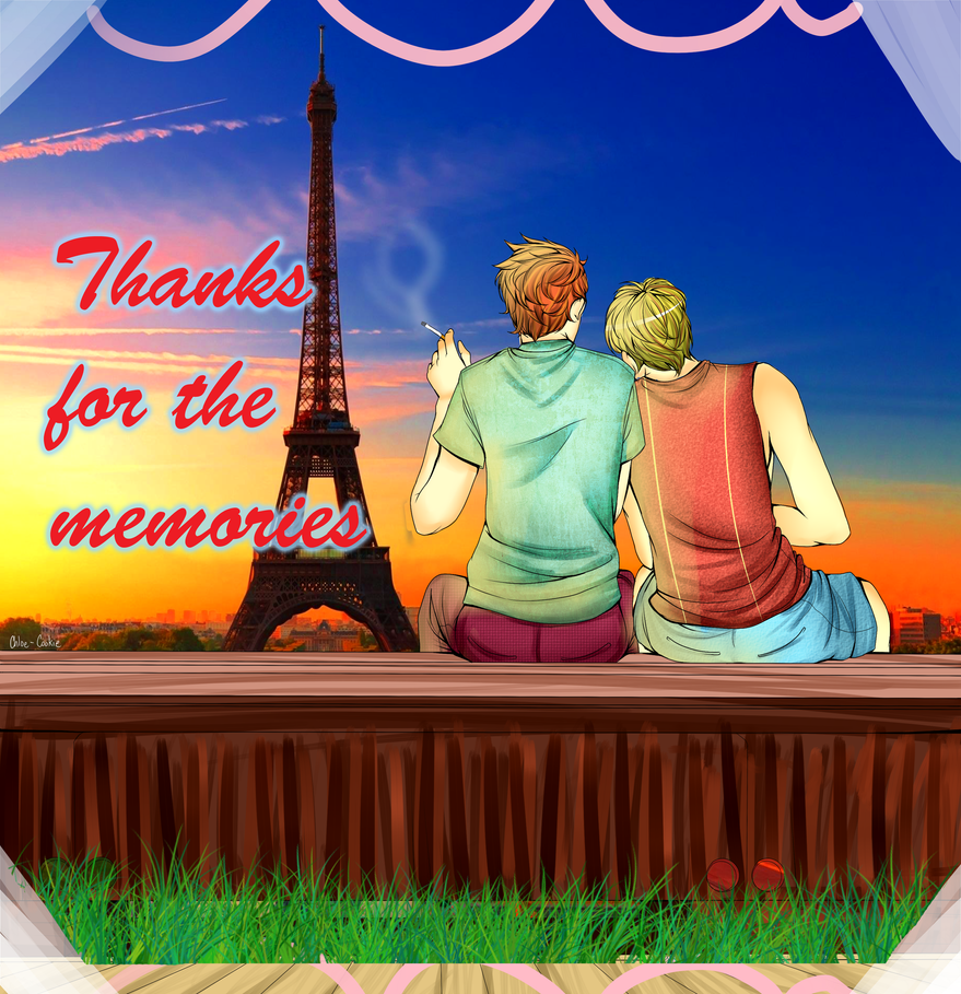 Coloring contes: Thanks for the memories by Nutella-Cookie