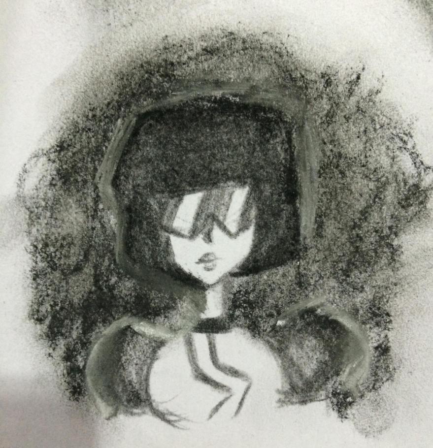 Charcoal Garnet by Cookieteller