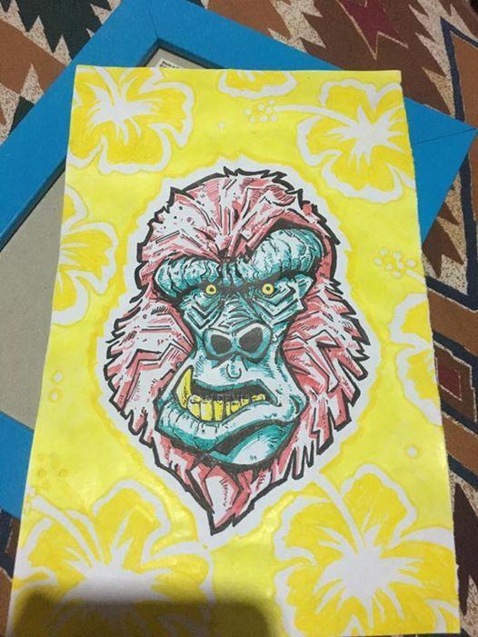 pink gorilla by alllan