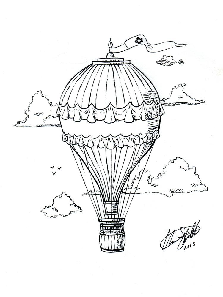 Hot Air Balloon Tattoo by C-Fillhart on DeviantArt