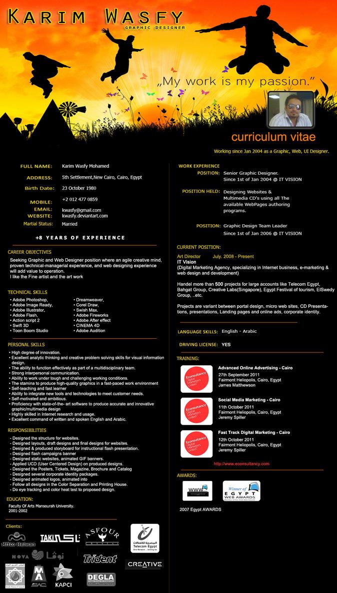 Kwasfy Cv Graphic Designer By Kwasfy On Deviantart