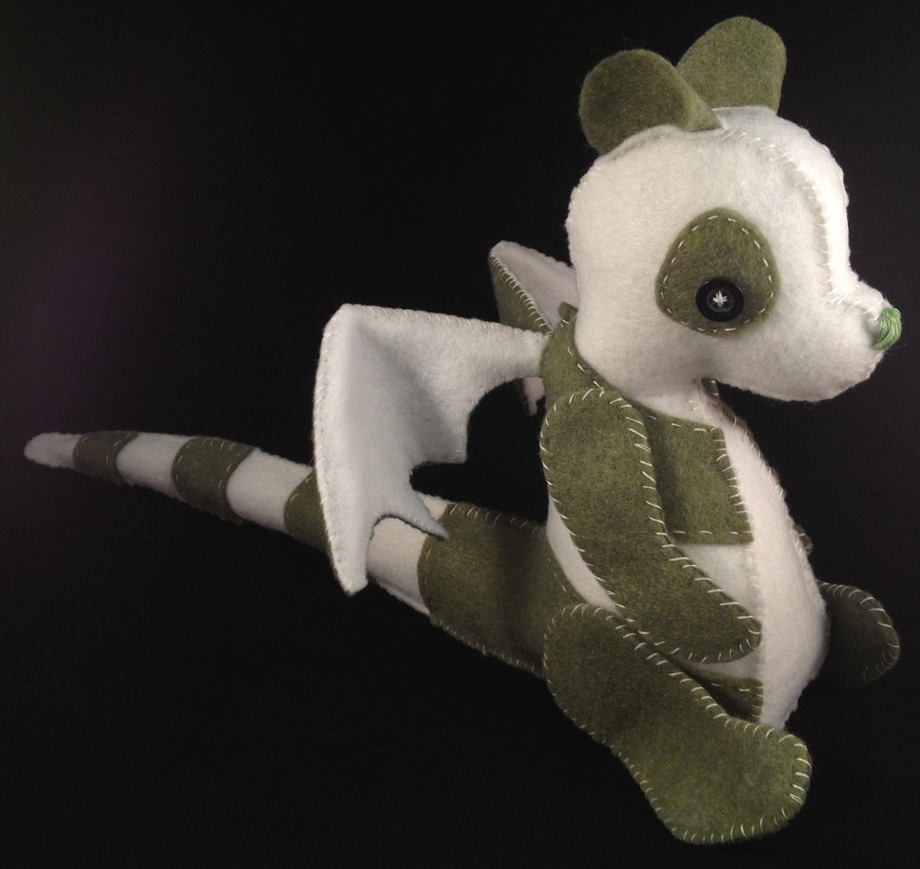 Custom Plush Commission: Panda Dragon by Arsenious