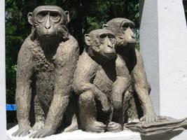 Monkeys statue by Redilion