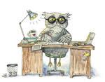Workaholic Owl