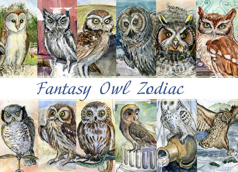 Fantasy Owl Zodiac by Redilion