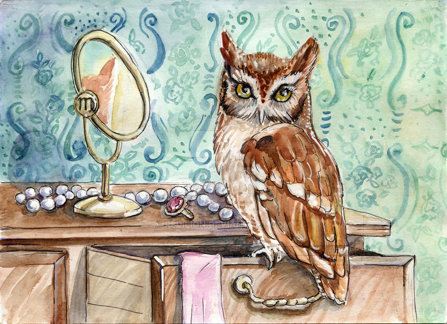 Virgo - Zodiac owl by Redilion