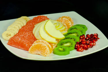 Plate of vitamin C