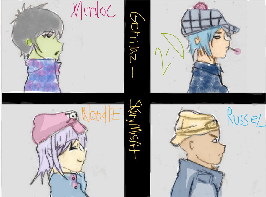 Request Gorillaz Wallpaper Anime Style By Skary Misfit