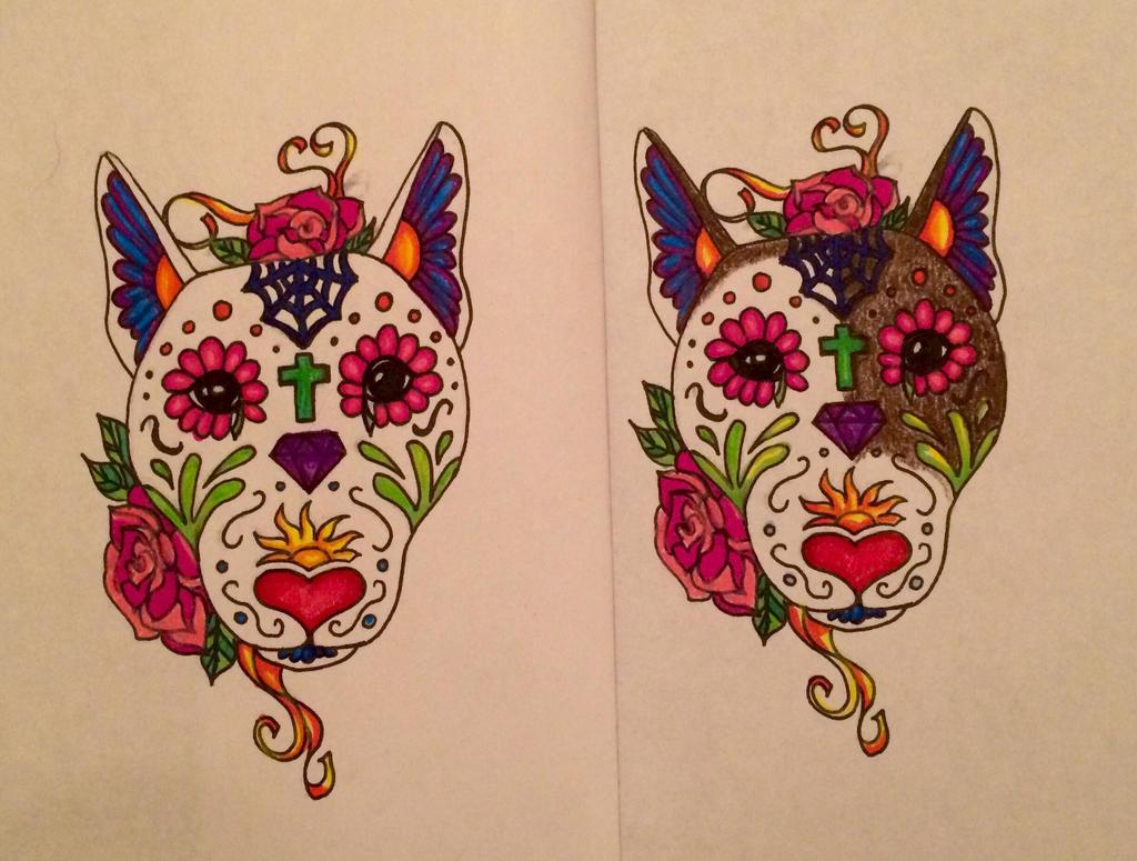 Animal sugar skull tattoo - photo#15