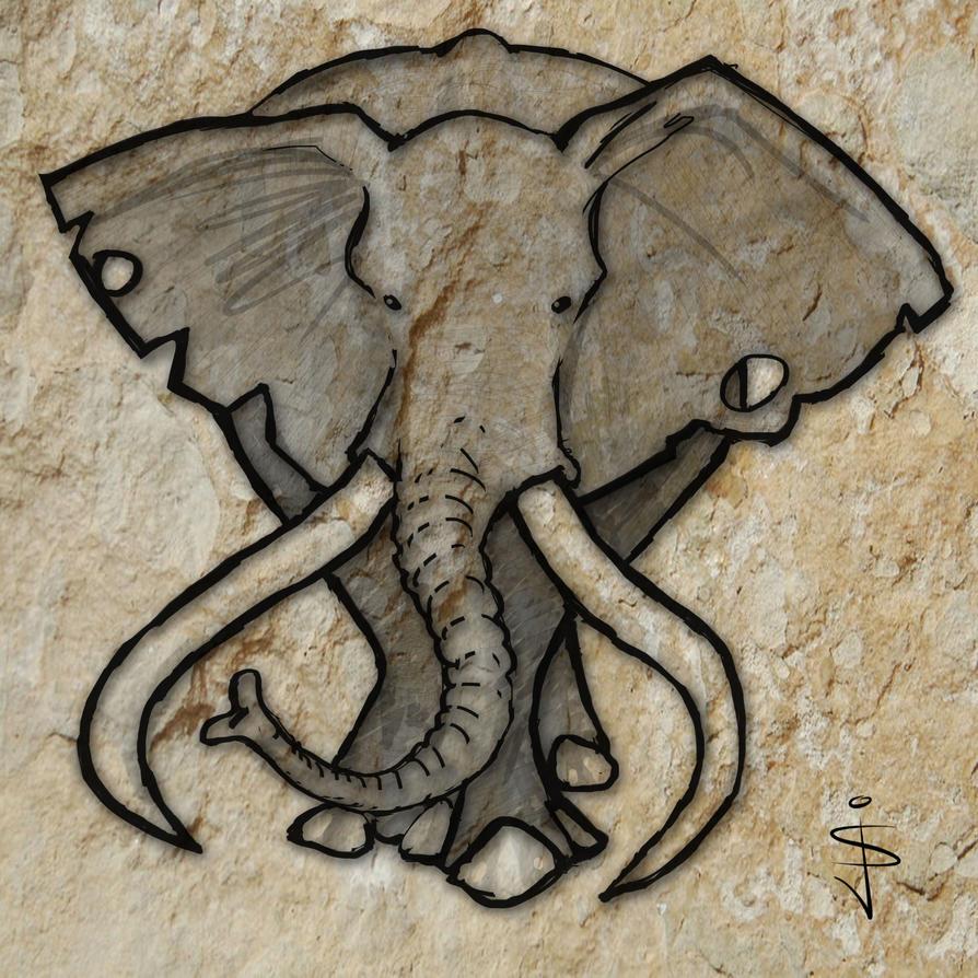 cave art africa elephant by northumbrianartist on deviantart. Black Bedroom Furniture Sets. Home Design Ideas
