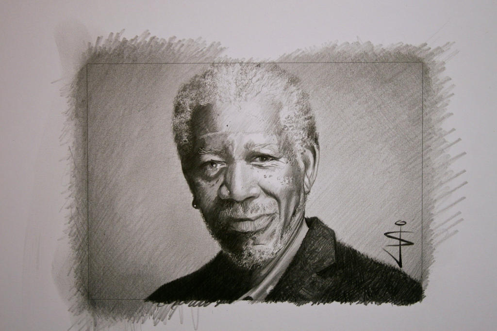 Morgan Freeman Speed Art on YouTube by NorthumbrianArtist