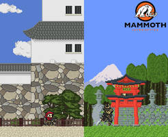 Commission: Japanese Castle and Shrine
