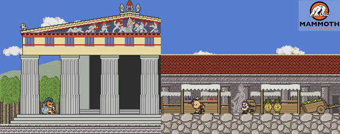 Commission: Greek Temple and Agora