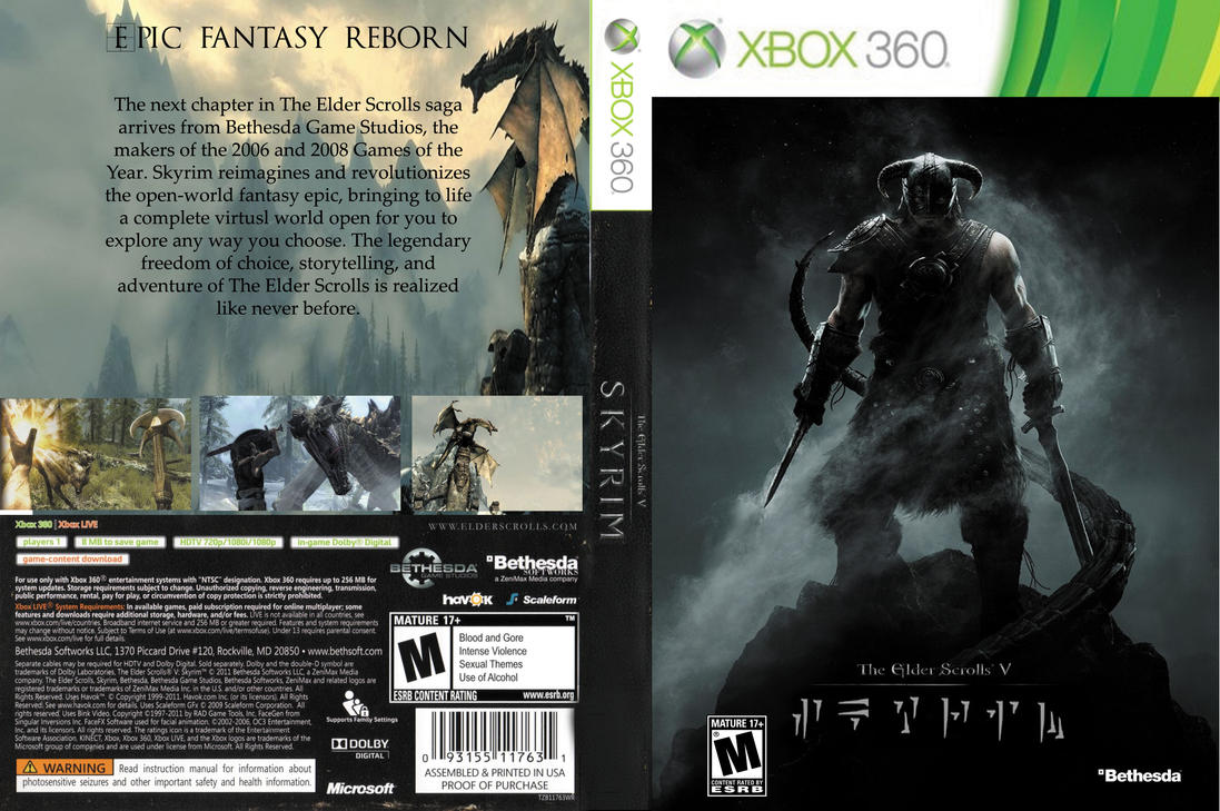 Custom Skyrim Game Case (Xbox 360) by TophatBrony64 on ...Xbox 360 Game Covers