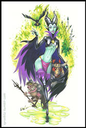 Maleficent the Goblin Queen by syrusbLiz