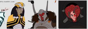 Disney CoV faces detail by syrusbLiz