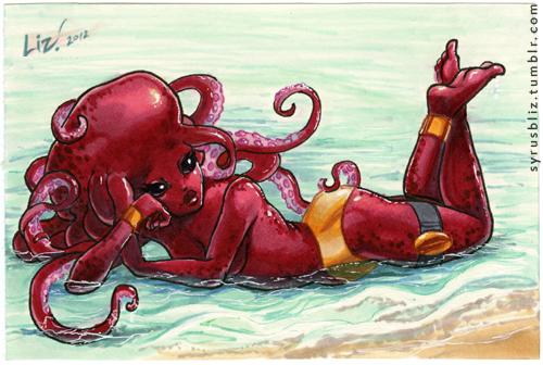 Beach Red by syrusbLiz