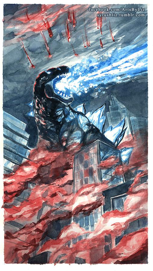 Godzilla by syrusbLiz