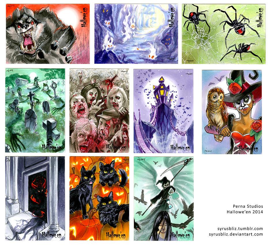 Hallowe'en cards by syrusbLiz