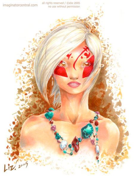 Blind-eyed Blonde by syrusbLiz