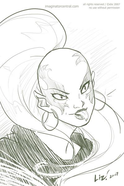 sketch Pythona by syrusbLiz