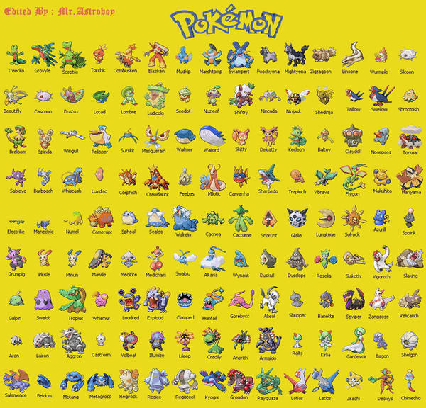pokemon hoenn list by mrastroboy on deviantart