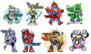 Mega Man 11 - The Eight Robot Masters by DouglasArtGallery