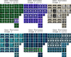 Mega Man 11 Gear Fortress Tilesets 8-Bits by DouglasArtGallery