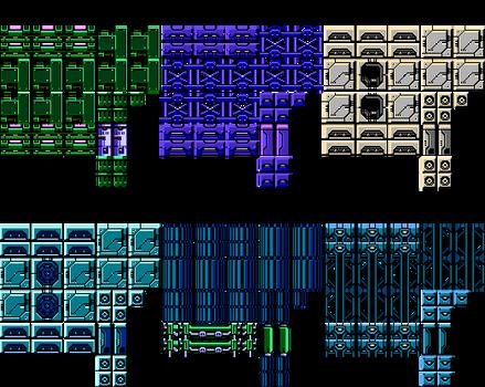 Mega Man 11 Gear Fortress Tilesets 8-Bits