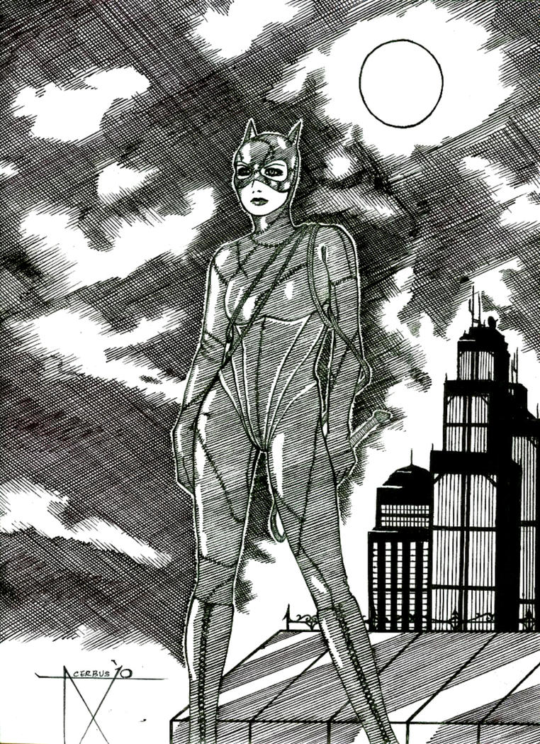 Catwoman (Returns) - Ink Sketch by XAcerbusX