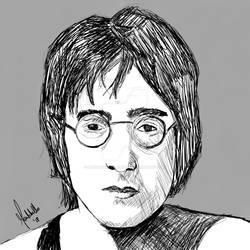 John Lennon Sketch Montebello Digital Art