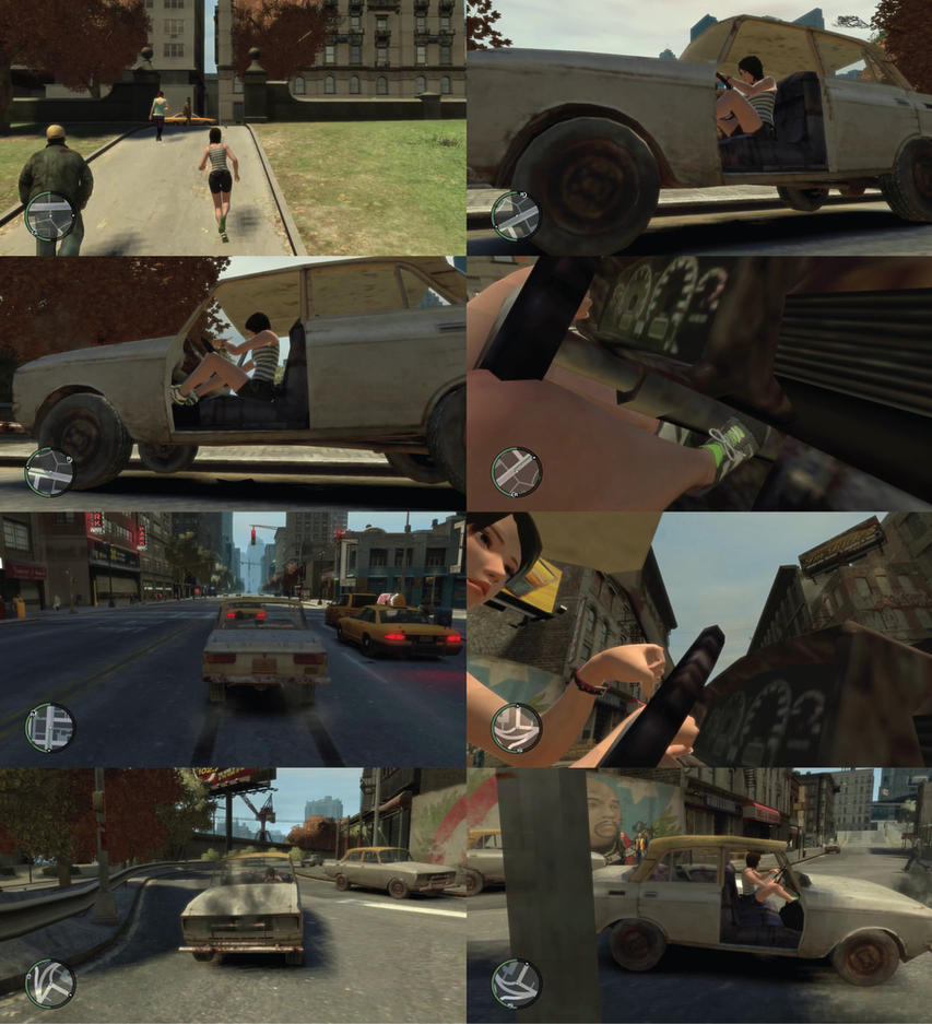 Kokoro desperate in her rusty car [GTA IV VIDEO} by MisterXfile89