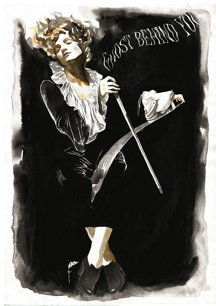 Marlene Dietrich playing musical saw by FranciscaBraga